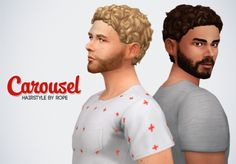 Un Sims au bout du fil. - Carousel hairstyle for the Sims 4 To be honest, I...