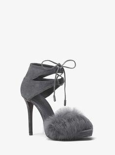 ec52cb66a681 Michael Michael Kors Remi Fur and Suede Sandal Dress The Population
