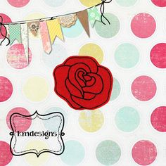 Beautiful Rose feltie ITH Embroidery design From Miss Meggie Designs
