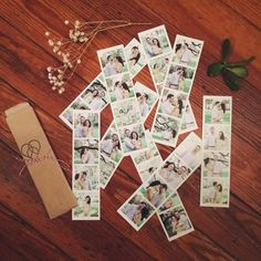 Photostrips artfully displayed by Art B Photography! Check out more of her work on her Facebook page:  https://www.facebook.com/aptbphoto   And for your own fine lookin' set of photostrips:  http://printstud.io/photostrips  http://printstagr.am/photostrips  #diy #wedding #savethedate #november #weddingideas #cute #vintage