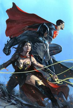 Justice League #1 Exclusive Cover - Gabriele Dell'Otto