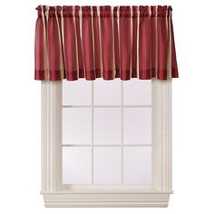 Essential Home Calin Stripe Valance - Red