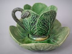 Majolica Mafra Palissy Cup Saucer