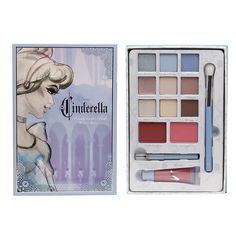 Cinderella Collection Is The Latest Disney Makeup Collection For Walgreens - Make Up Cinderella Makeup, Disney Princess Makeup, Disney Makeup, Make Up Palette, Cute Makeup, Beauty Makeup, Disney Inspired Makeup, Make Up Tools, Make Up Organizer