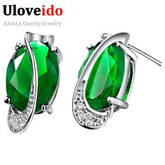 Find More Stud Earrings Information about Stud Earrings for Women Fashion 2015 Free Shipping Simulated CZ Diamond Bijoux Silver  Plated 18KGP Color Duration 1 Year R748,High Quality earring male,China earring skull Suppliers, Cheap earrings plastic from ULOVE Fashion Jewelry on Aliexpress.com
