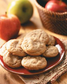 HAPPY MOTHER'S DAY RECIPES ...❤ ❤ ❤ Apple Peanut Butter Cookies Recipe ~ INGREDIENTS: Shortening - Chunky peanut butter - Sugar - Brown sugar - Egg - Vanilla extract - All-purpose flour - Baking soda - Salt - Ground cinnamon - Apple - Cooking spray, for greasing