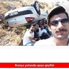 Konya yolunda qaza qeyfiii :) #mizah #matrak #komik #espri #komik #şaka #gırgır #caps