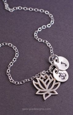 beautiful, personalized lotus necklace.