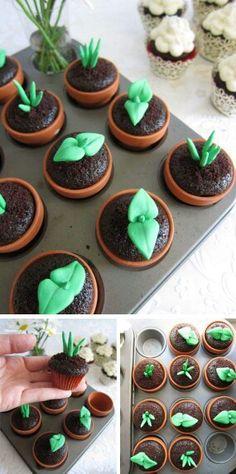 Cupcakes jardiniers