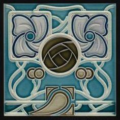 Boizenburg Art Nouveau tile