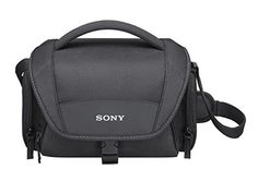 Sony LCSU21 Soft Carrying Case for CyberShot and Alpha NEX Cameras Black *** You can get additional details at the image link.