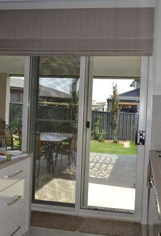 Roman Blinds are great for sliding doors