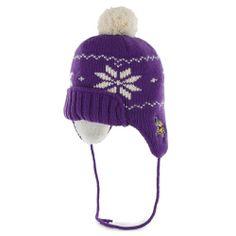 ad8e5abfc30 Save  3.4 - 47  Brand Minnesota Vikings Womens Nashoba String Knit Hat  Purple  13.59 Viking