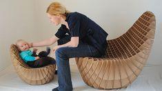 Recycling Cardboard for Unique DIY Furniture, Inspiring Green Living Ideas Cardboard Chair, Cardboard Recycling, Cardboard Design, Cardboard Paper, Cardboard Furniture, Cardboard Crafts, Cardboard Playhouse, Cardboard Houses, Cnc Furniture