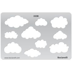 2238 Art and Craft Design Template Stencil for Jewellery Making Drawing and Drafting - Cloud Clouds Sky