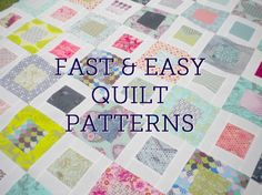"""EASYQUILTS  I'm looking at an adaptable quilt pattern using a """"stack and whack"""" method of cutting; by Amy of Diary of a Quilter"""