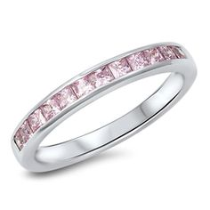 Please Take A Moment To Visit Our Store!      Item Number: RC105031-PK  Availability: Usually Ships in 5 Business Days      PRODUCT DESCRIPTION:    Pink CZ's are expertly set in sterling silver band for her.      FEATURES:      Crafted in Fine Sterling Silver  Vibrant Pink Princess Cut Cubic Zirconia  Classic Channel Set Design   | Shop this product here: http://spreesy.com/jryanfinejewelry/556 | Shop all of our products at http://spreesy.com/jryanfinejewelry    | Pinterest selling…