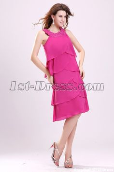 Mother Of The Bride Dresses | Pretty Hot Pink Mother of the Bride Dresses for Older Women