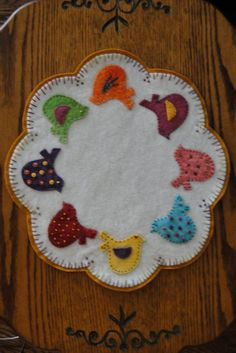 Tweety Birds Wool Applique Candle Mat Pattern. $9.00, via Etsy.
