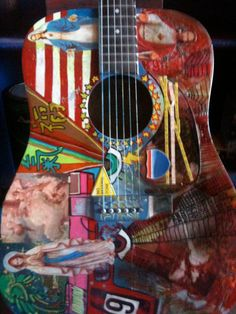 Musical Instruments Guitar Acoustic Ephiphone by HASArtbyShannon, $900.00