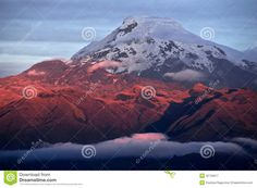 Sunset on the mighty Volcano Cayambe in Ecuador. Sunset on the Volcano Cayambe, , Bolivia, Best Places To Travel, Places To Go, Travel Pics, Ecuador, Beautiful World, Beautiful Places, Galapagos Islands, Quito