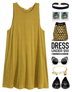 """""""~Dress under $50~"""" by amethyst0818 ❤ liked on Polyvore featuring Yves Saint Laurent, Jérôme Dreyfuss, Polaroid, Alex and Ani, Givenchy and Dressunder50"""