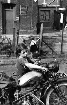 ❦  La petite fille à la moto, 1954 photo by Jean-Philippe Charbonnier