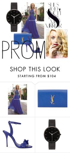 """""""Royal Jovani 92605 Sleeveless Fitted Bodice 2016 Prom Dress"""" by chrissybarby ❤ liked on Polyvore featuring Yves Saint Laurent, Sophia Webster, Rika and I Love Ugly"""