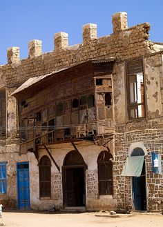 Very old mashrabiya, Massawa old town, Eritrea