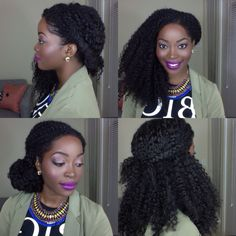Natural hair styles using HERGIVENHAIR natural hair extensions. Watch video for a styling tutorial on this gorgeous hair. @msnaturallymary