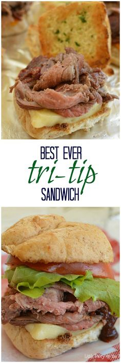 Sandwiches are a favorite easy meal at my house. I've learned a few simple tricks that take this Tri Tip Sandwich from average to extraordinary! Tri Tip Sandwich, Best Sandwich, Soup And Sandwich, Wrap Recipes, Beef Recipes, Cooking Recipes, Cooking Videos, Cooking Tips, Cheesesteak