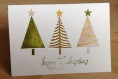 Die schlichte Karte: Erste Weihnachtskarte mit Stampin`up