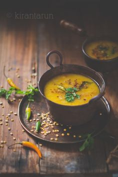 Tadka Dal, which directly translates to tempered lentils,a must-have side dish