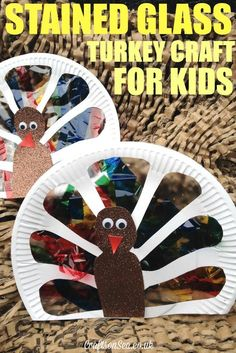 Stained Glass Turkey Craft for Kids - Crafts on Sea