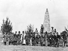 Dedication of the battle monument at Mrs. Henry's House on the Manassas (Bull Run) battlefield.
