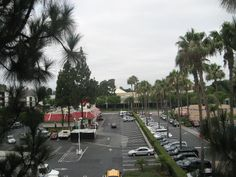 View from our room at the Fairfield Inn Anaheim Disneyland Resort. (Good Neighbor Hotel) Just over the McD's, almost lost in the clouds, is Space Mountain. This hotel is very close to the parks. Disneyland Good Neighbor Hotels, Disneyland Resort, Fairfield Inn, Space Mountain, Parks, Lost, Clouds, Parkas, Cloud
