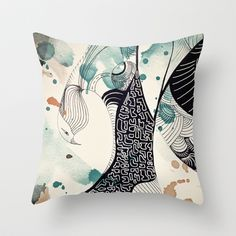 Bird from Egypt Throw Pillow by Krismarx - $20.00