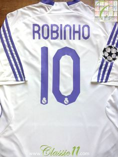 8dfe7c4a429 Relive Robinho s 2007 2008 Champions League season with this vintage Adidas Real  Madrid home football