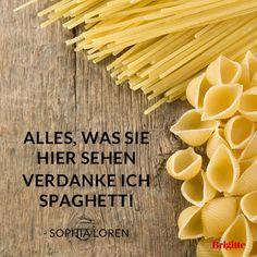 Alles, was sie hier sehen verdanke ich Spaghetti.