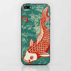 Japanese Koi Design iPhone & iPod Skin by patterndesign - $15.00    Artwork by Alexandra Bolzer Japanese Koi, Japanese Design, Cute Cases, Pattern Design, Gadgets, Iphone Cases, Patterns, Stylish, My Style