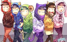 Osomatsu,Karamatsu,Choromatsu,Ichimatsu, Juyshimatsu and Todomatsu