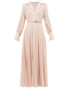 Fendi Gloria Fil-coupÉ Silk-blend Shirtdress In Pink Elegant Outfit, Elegant Dresses, Fendi Dress, Wool Dress, Satin Dresses, Classy Outfits, The Dress, Designer Dresses, Shirt Dress