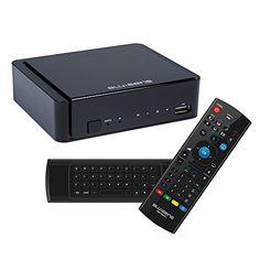 Blusens WebTv W + Smart TV - Pack de receptor y mando inalámbrico, color negro