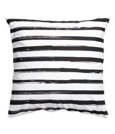 Cotton Cushion Cover B&W Striped