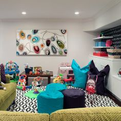 Fat Boy Beanbag Playroom Design Ideas, Pictures, Remodel, and Decor