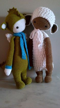 DIRK the dragon & LUPO the lamb made by Anna E. / crochet patterns by lalylala