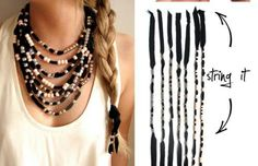DIY Beaded necklace or hair ties