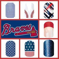 Atlanta Braves Jamberry Nail Wraps, Atlanta Braves