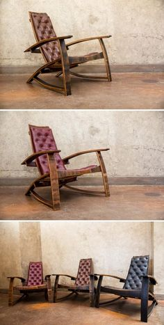 These upcycled, leather-upholstered chairs, made from old wine and liquor casks, are more fun than a barrel of, er, bourbon. #etsyfinds