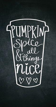 chalkboard pumpkin spice printable